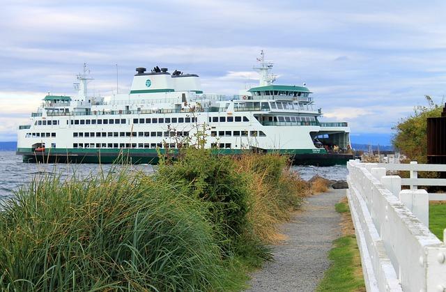 Ferry, Dock, Transportation, Boat, Washington State