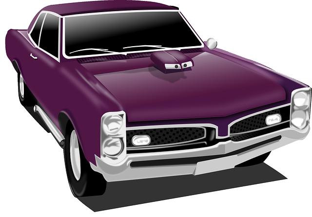 Classic Car, Car, Vintage, Purple, Transportation