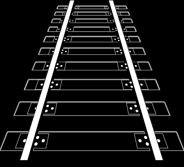 Railroad, Track, Rail, Transportation, Train