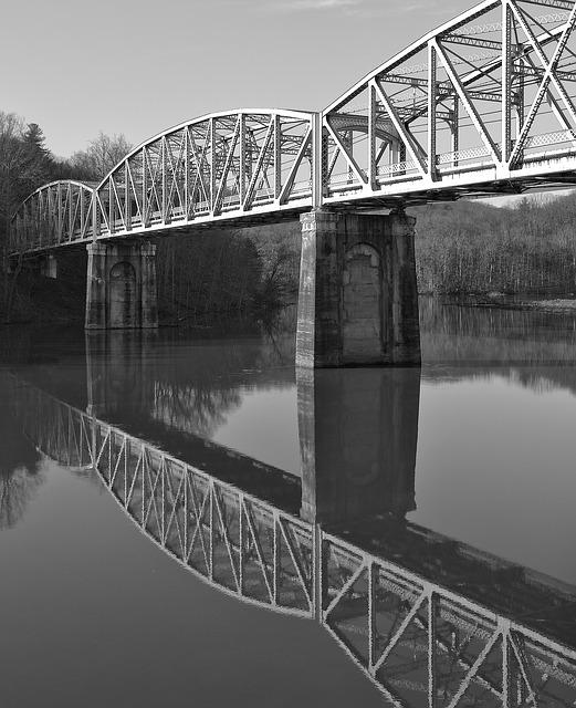 Bridge, River, Water, Reflection, Transportation System