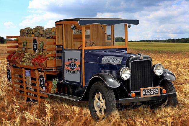 Transportation System, Vehicle, Truck, Vintage
