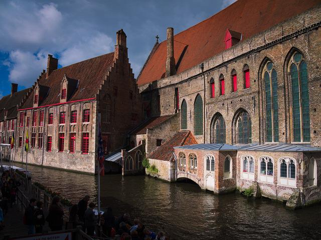 Architecture, Travel, Canal, Building, Old, Bruge