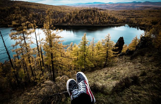 Travel, Aershan, Shoes, Lake, Autumn