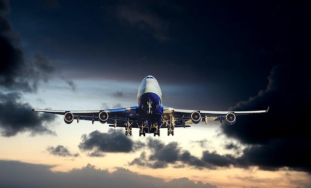 Sunset, Aircraft, Big, Carrier, Sky, Travel, Blue