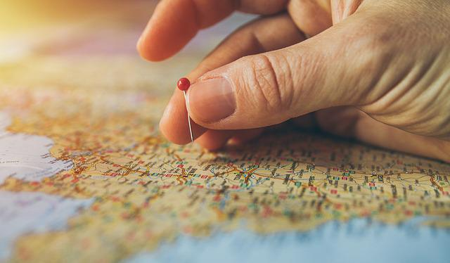 Travel, Pinned, Pinning, Maps, Atlas, Cartography