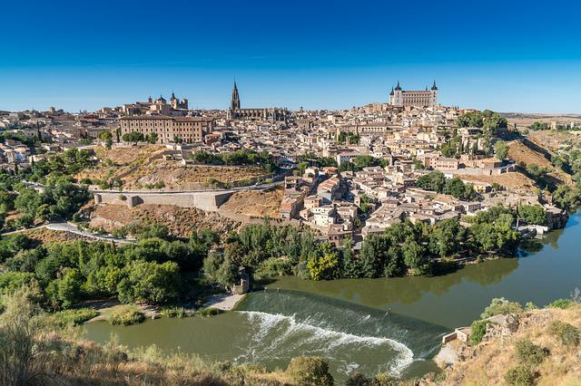 Toledo, Spain, Landscape, Travel, River, City, Historic