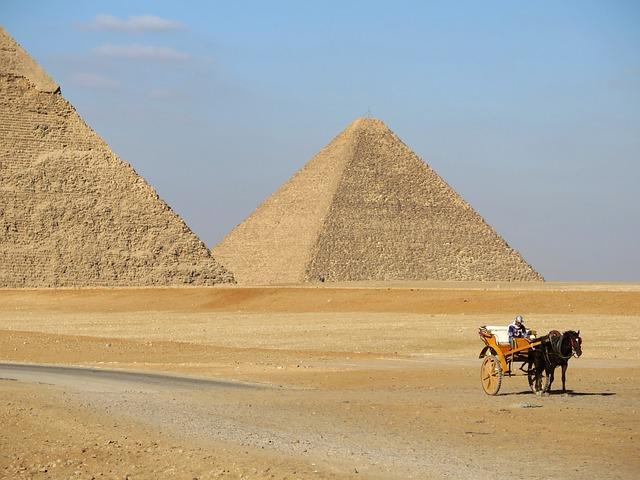 Pyramid, Desert, Camel, Pharaonic, Sand, Grave, Travel