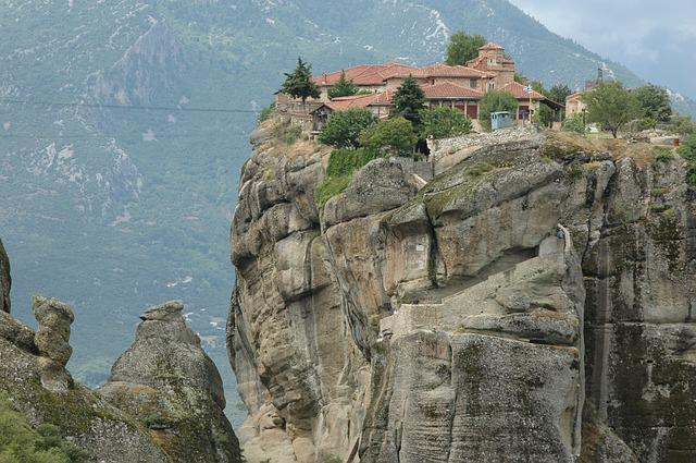 Greece, Halkidiki, Meteors, Travel, Monastery, Rock