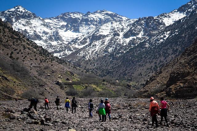 People, Mountain, Hiking, Morocco, Travel