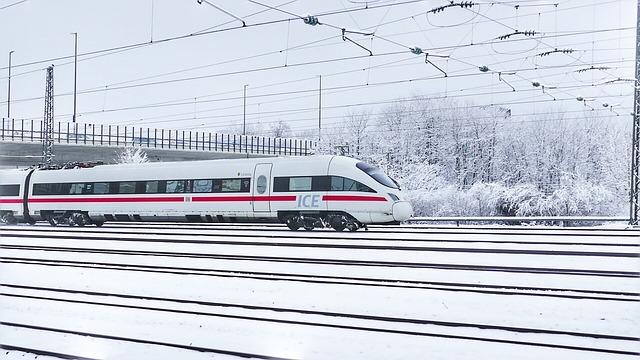 Transport System, Winter, Travel, Ice, Railway Station