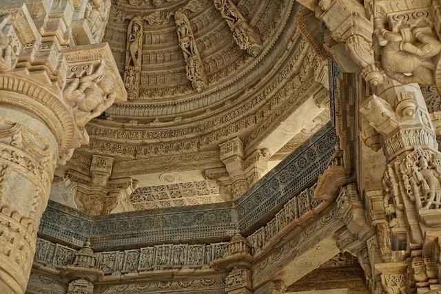 Jain Temple, Chaumukkha Mandir, Ranakpur, Travel