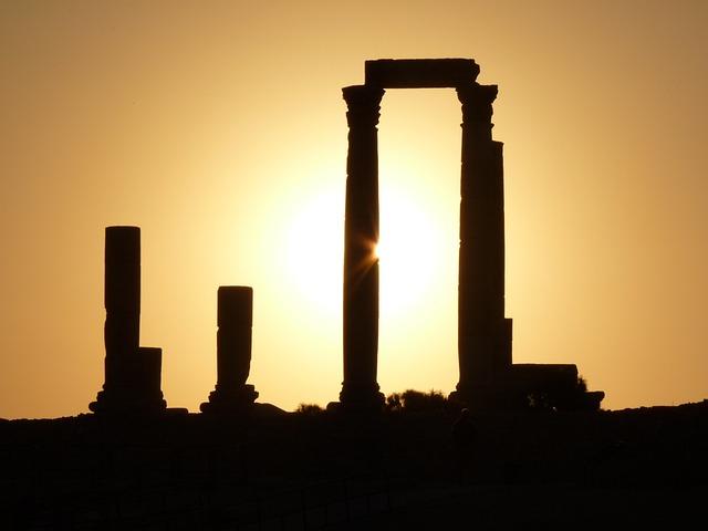 Citadel Hill, Amman, Jordan, Vacations, Travel