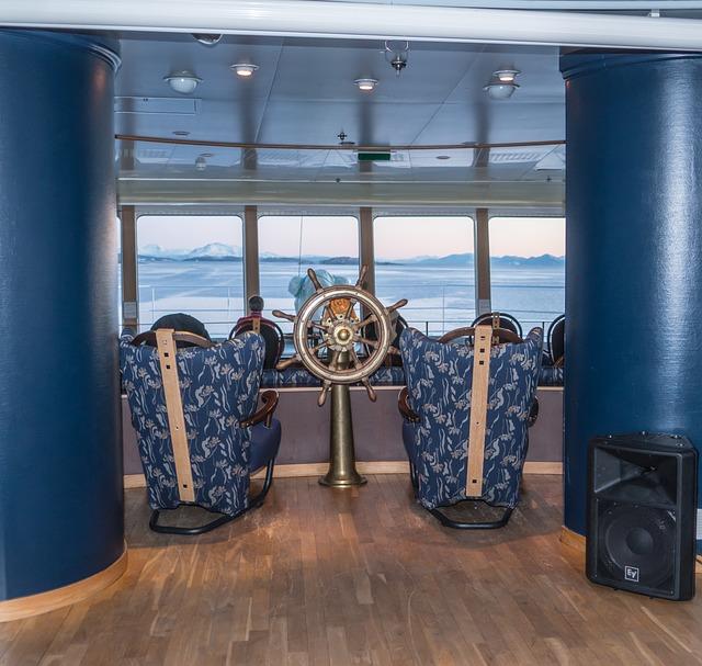 Cruise Ship, Hurtigruten, Lounge, Travel, Vacation