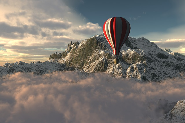 Sky, Outdoors, Mountain, Travel, Landscape, Ballon