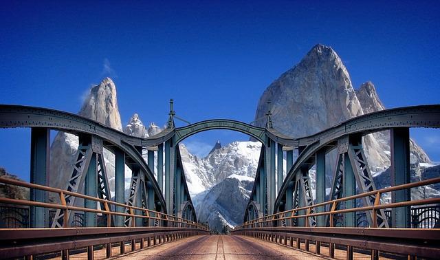 Mountains, Bridge, Travel, Wanderlust, Adventure