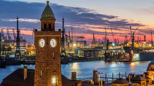 Travel, City, Architecture, Panorama, Waters, Hamburg