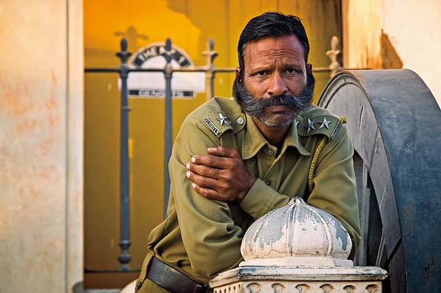 Guard, India, Travel, Portrait, Building, Military