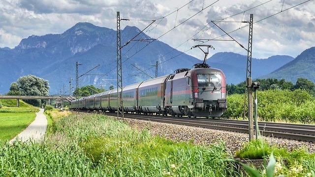 Travel, Transport System, Nature, Railway, Railway Line