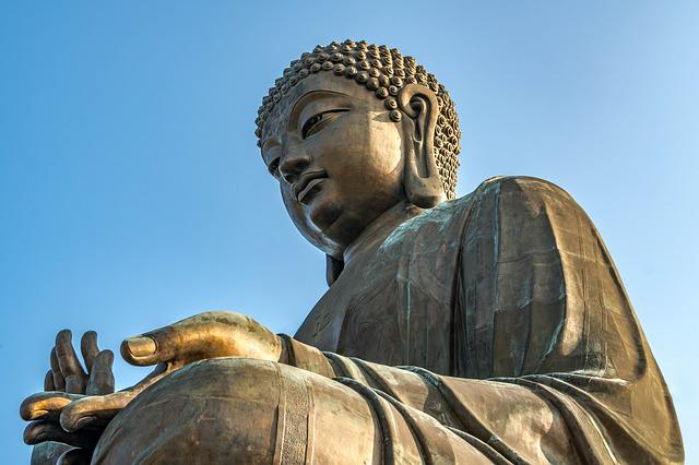 Statue, Buddha, Sculpture, Religion, Travel, Hong Kong
