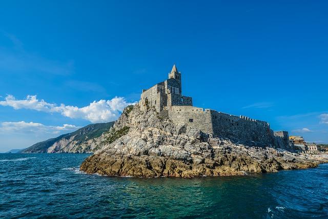 Travel, Sea, Water, Seashore, Sky, Italy, Castle