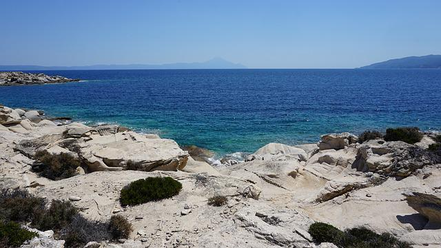 Sea, Water, Seashore, Beach, Travel, Chalkidiki, Greece