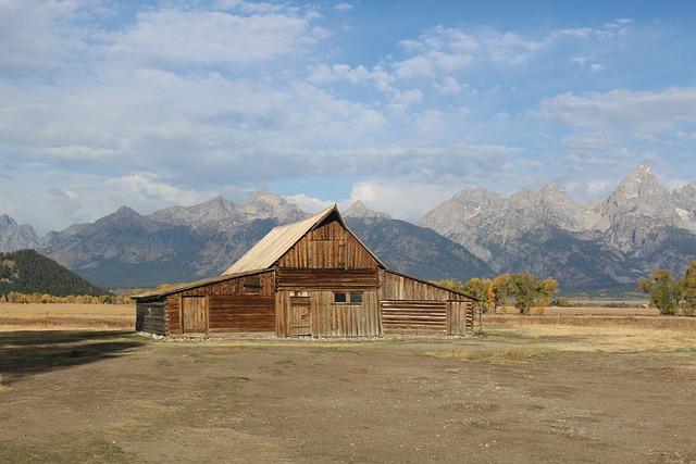 Mountain, Sky, Outdoors, Horizontal Plane, Travel, Barn