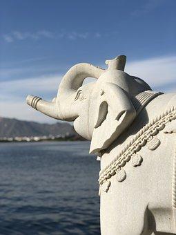 Sculpture, Water, Travel, Statue, Sky, Sea, Lake
