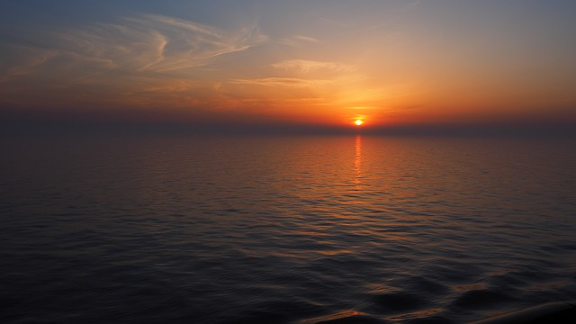Sunset, South China Sea, Sky, Nature, Sea, Travel