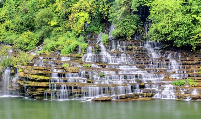 Waterfall, Twins Falls, Water, Stone, Travel, Landscape