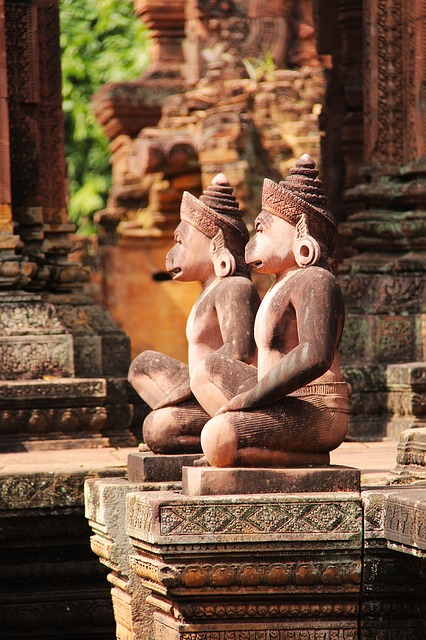 Banteay Srei, Temple, Travel, Antique, Old, Beautiful