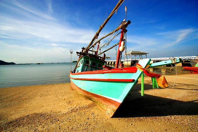 Boat, South, Thailand, Beach, Sea, Travel, Blue, Island