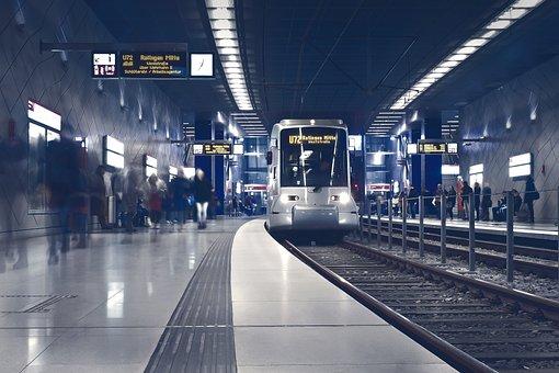Metro, Underground, Station, Travel, Train, Exit, Track