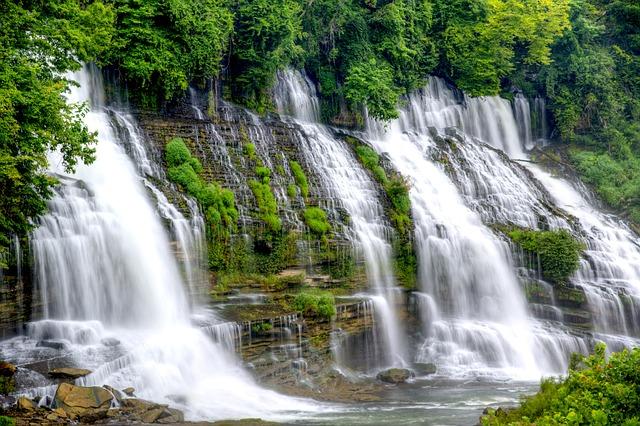 Waterfall, Twins Fall, Landscape, Nature, Travel