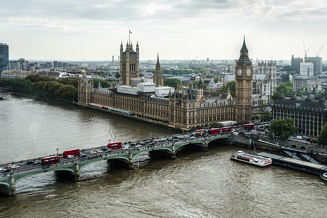 City, River, Water, Travel, Architecture, London