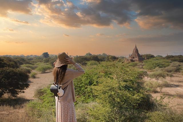 Girl, Traveler, Bagan, Myanmar, Burma, Asia, Temple
