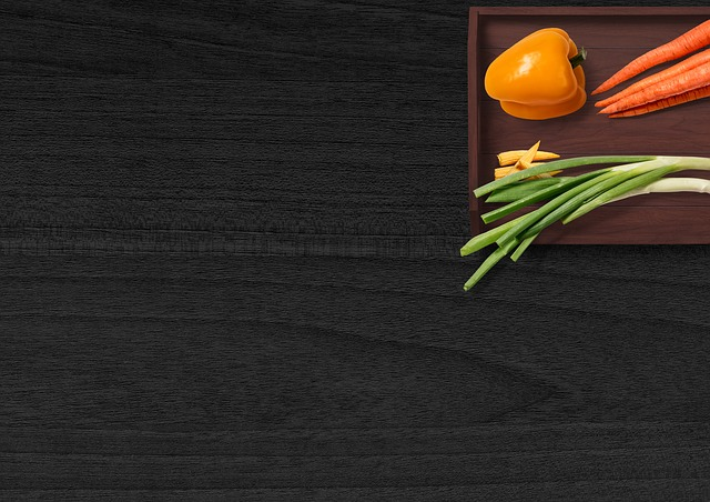 Vegetables, Table, Tray, Paprika, Carrots, Onions