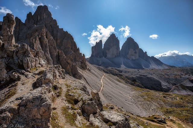 Tre Cime Di Lavaredo, Dolomites, Dolomiti, Nature