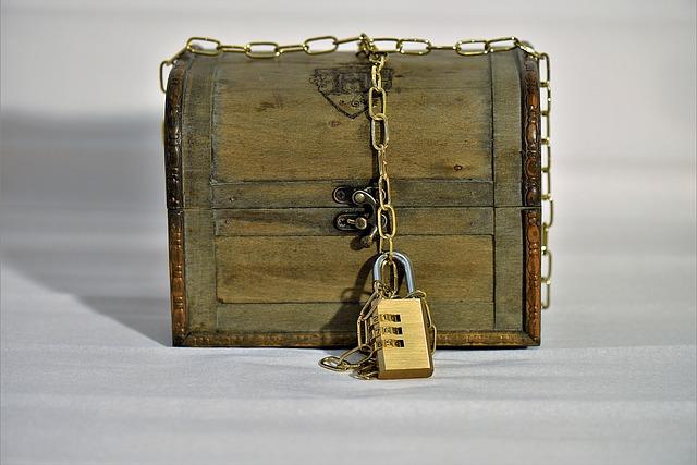 Treasure Chest, Chain, Castle, Brown, Secret, Close