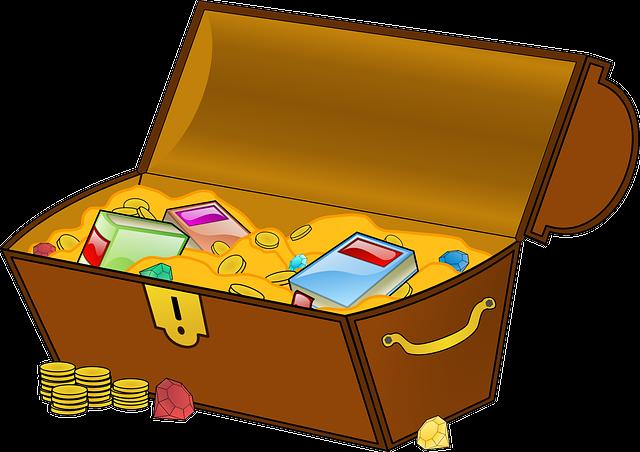 Treasure, Treasure Chest, Geocaching, Find