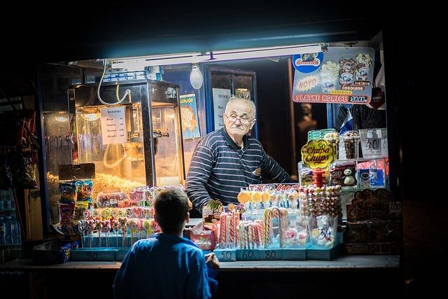Treat, Market Stand, Boy, Sweets, Belgrade, Old Man