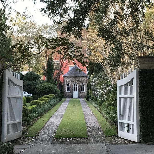 Architecture, House, Garden, Tree, Entrance, Drive