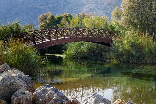 Bridge, Waters, Nature, River, Travel, Tree, Crete