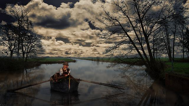 Waters, Tree, Nature, Dawn, Lake, River, Blockland