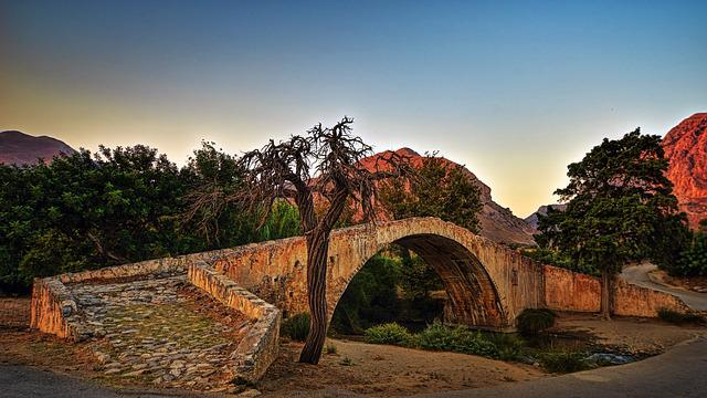 Bridge, Historically, Nature, Tree, Landscape, Travel