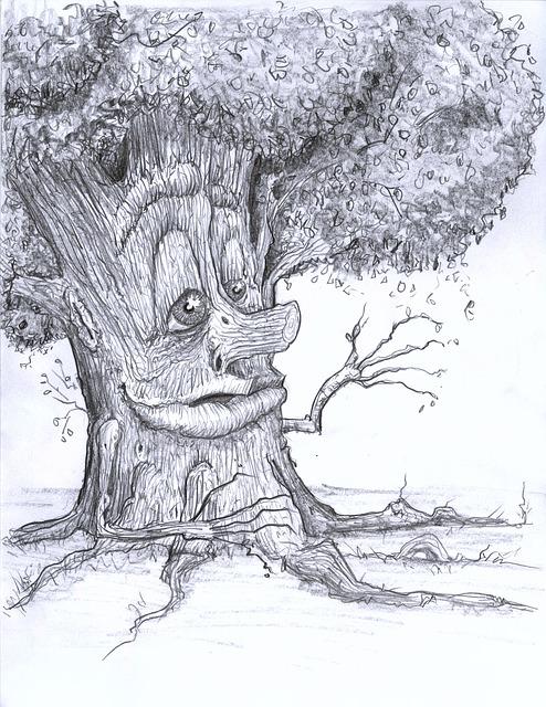 Tree, Creepy, Scary, Halloween, Haunted, Fantasy