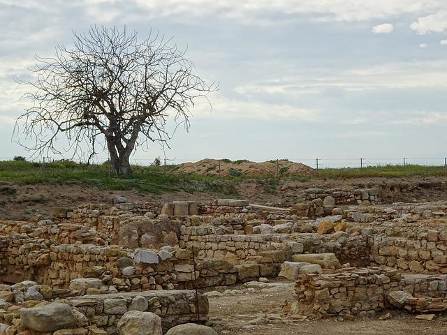 Landscape, Tree, Stone, Wall, Travel, Old, Architecture