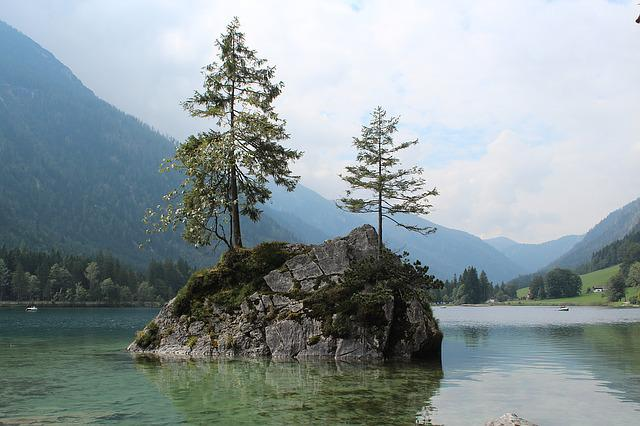 Hintersee, Berchtesgaden, Bavaria, Lake, Nature, Trees