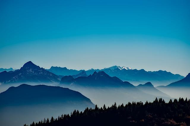 France, Mountains, Fog, Mist, Sunrise, Forest, Trees