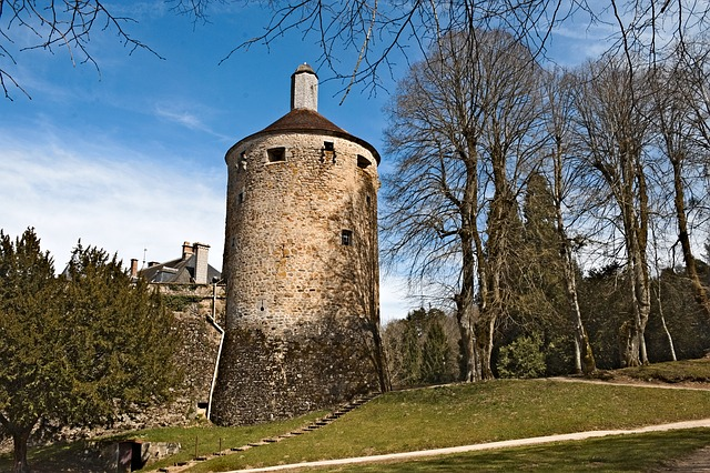 Tower, Castle, Chatelux, Yonne, Park, Monument, Trees
