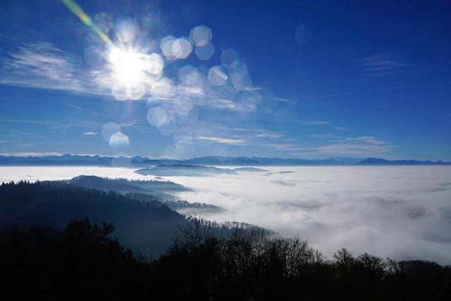 Fog, Sky, Nature, Trees, Winter, Autumn, Mood